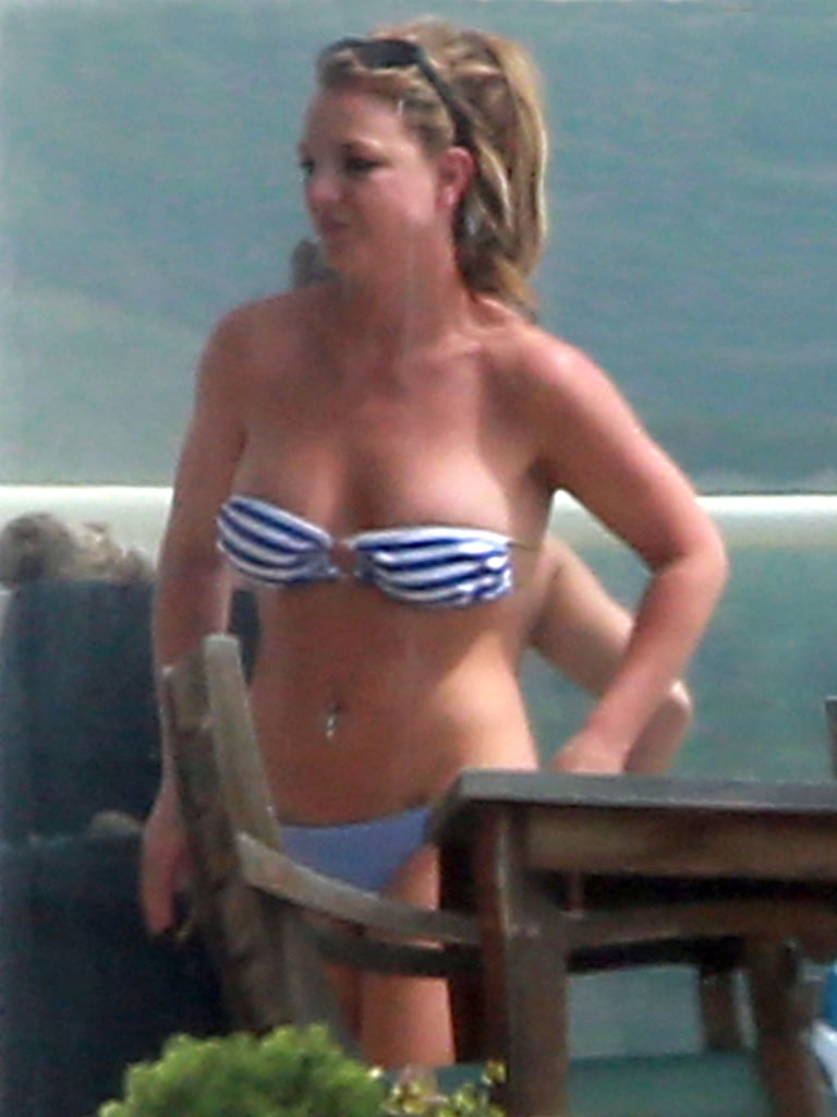 The singer's top hung low when she hung out with pals in Malibu, CA, in March 2013.