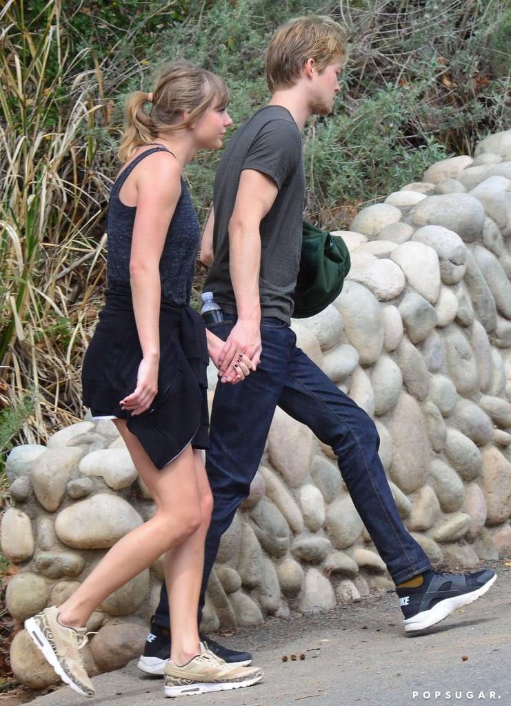 Taylor Swift Nike Sneakers on Hike With Joe Alwyn