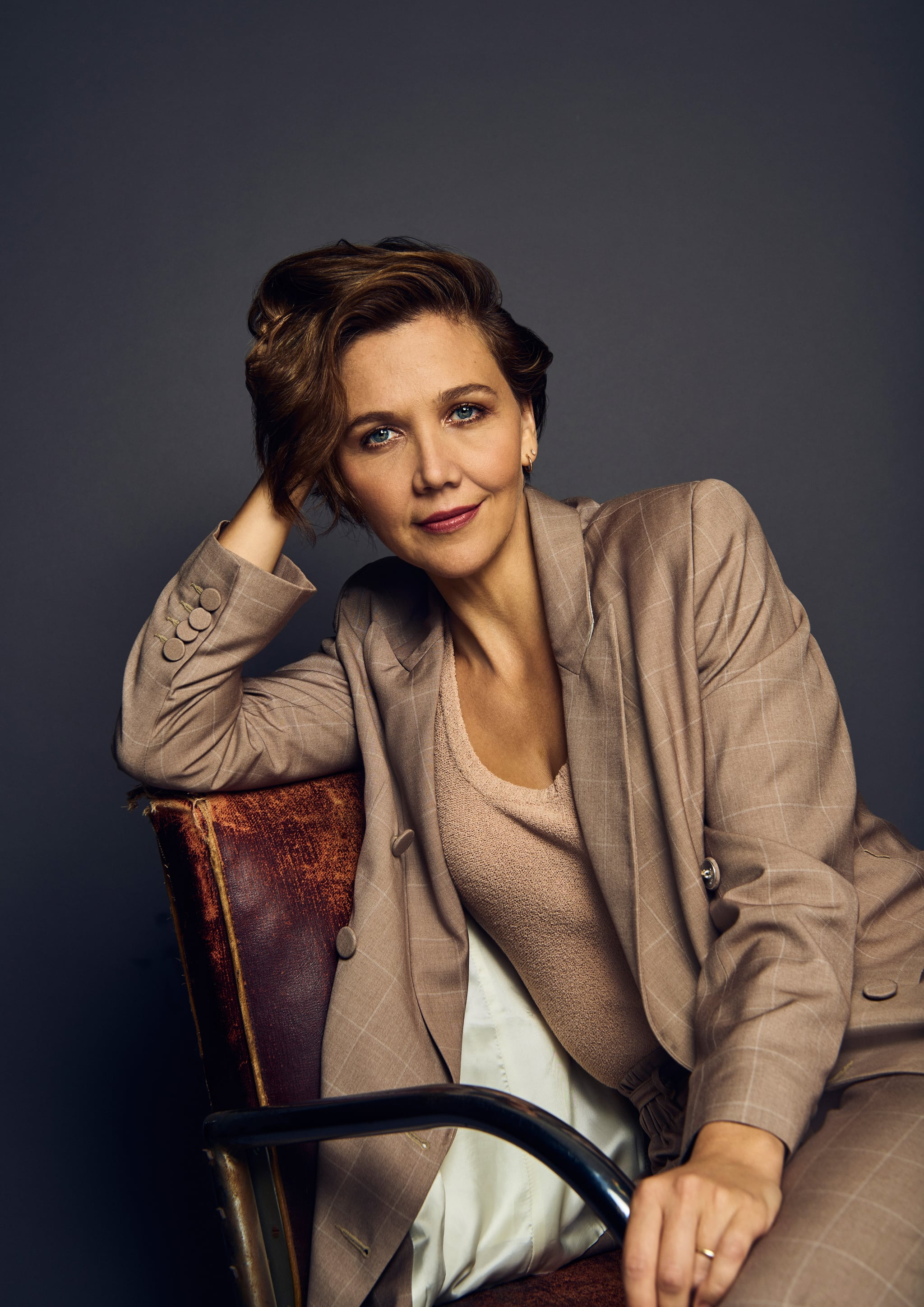 TORONTO, ON - SEPTEMBER 10:  Actor Maggie Gyllenhaal from the film 'The Kindergarten Teacher'' poses for a portrait during the 2018 Toronto International Film Festival at Intercontinental Hotel on September 8, 2018 in Toronto, Canada.  (Photo by Gareth Cattermole/Contour by Getty Images)