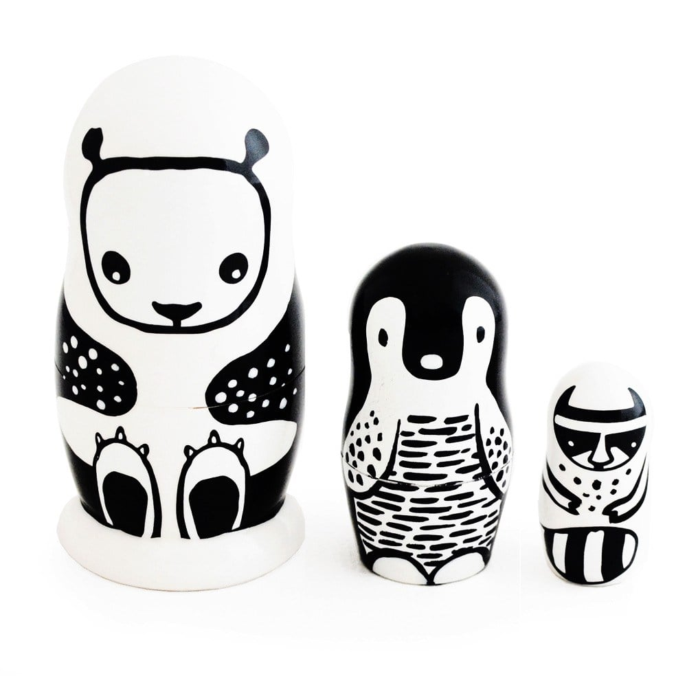 Wee Gallery Set of 3 Animal Nesting Dolls