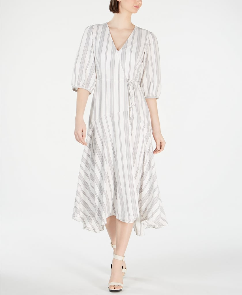 Calvin Klein Striped Wrap Maxi Dress | Michelle Obama Best