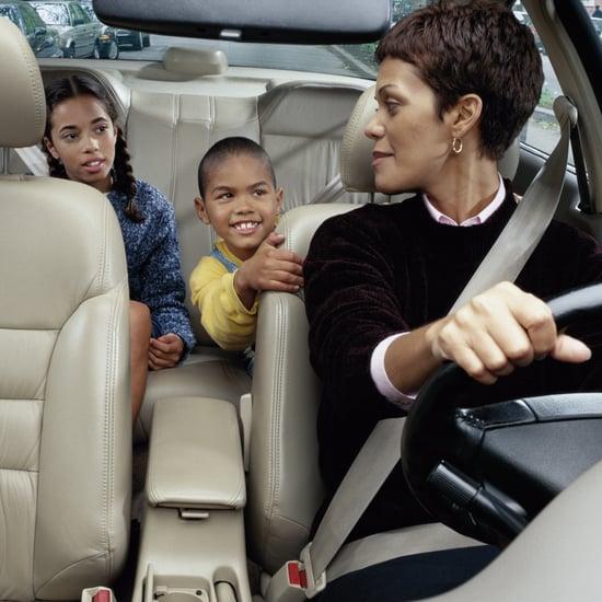 Moms in School Carpool Line