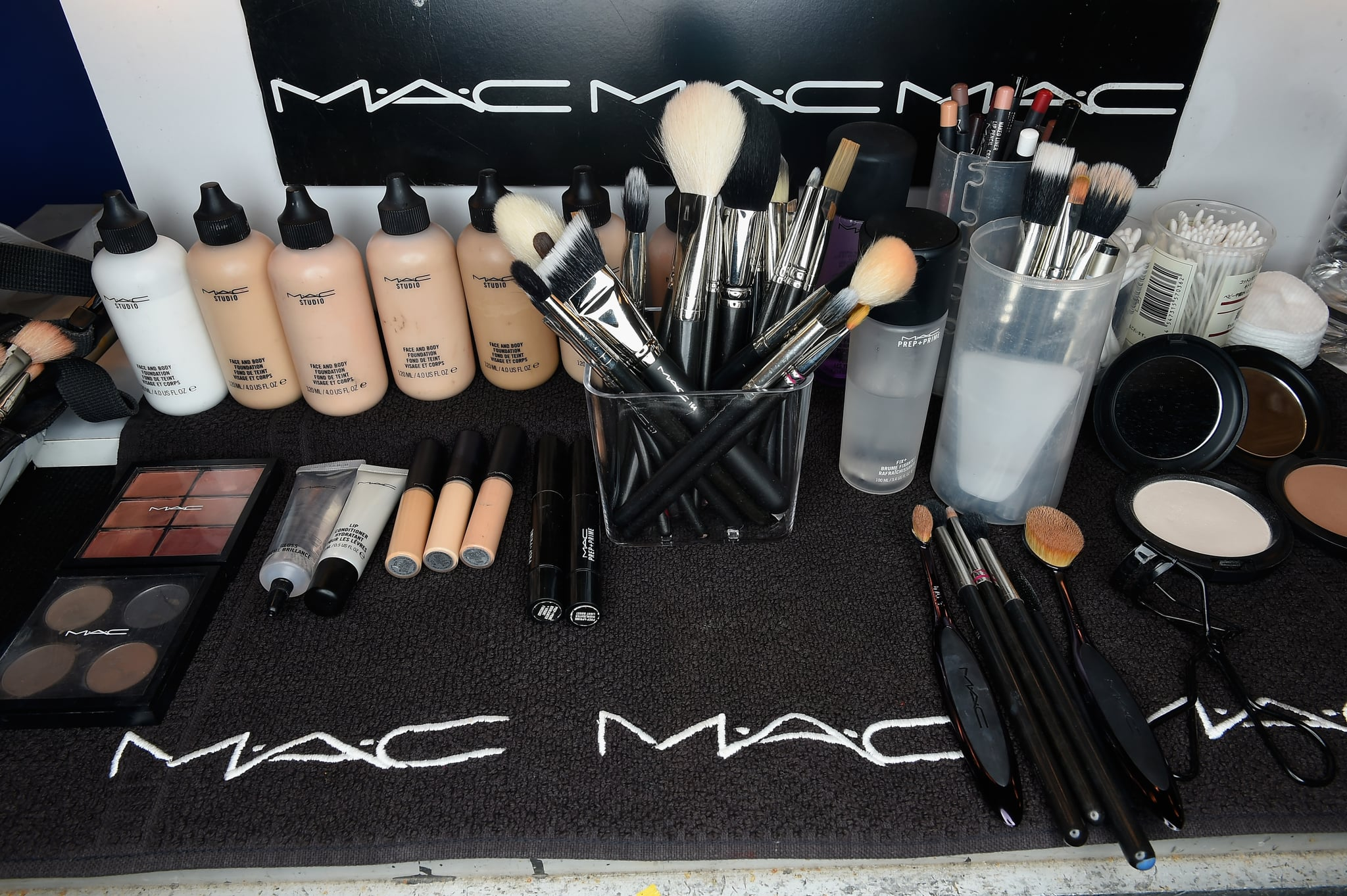 ISTANBUL, TURKEY - OCTOBER 11:  Make-Up products by MAC Cosmetics are seen backstage ahead of the Cihan Nacar show during Mercedes-Benz Fashion Week Istanbul at Zorlu Center on October 11, 2016 in Istanbul, Turkey.  (Photo by S. Alemdar/Getty Images for IMG)