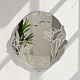 Poppy Floral Round Wall Mirror