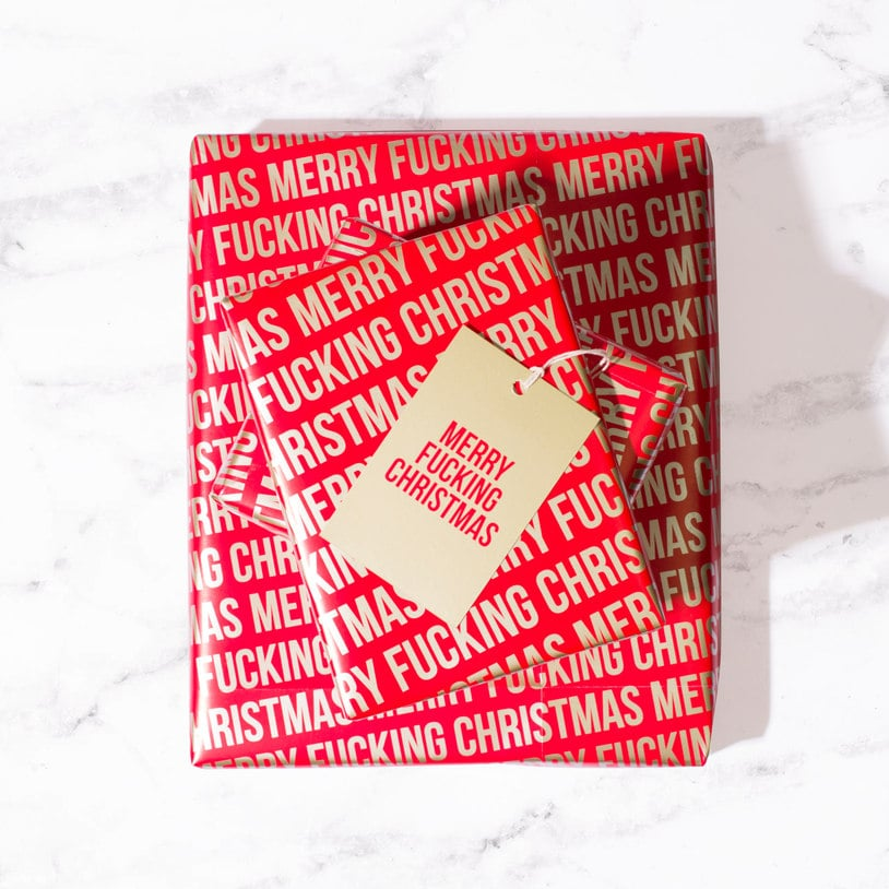 Merry F*cking Christmas Wrapping Paper