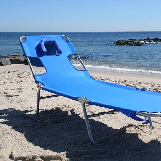 Beach Chair With a Face Hole