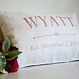 Rose Gold Customize Pillow ($45)