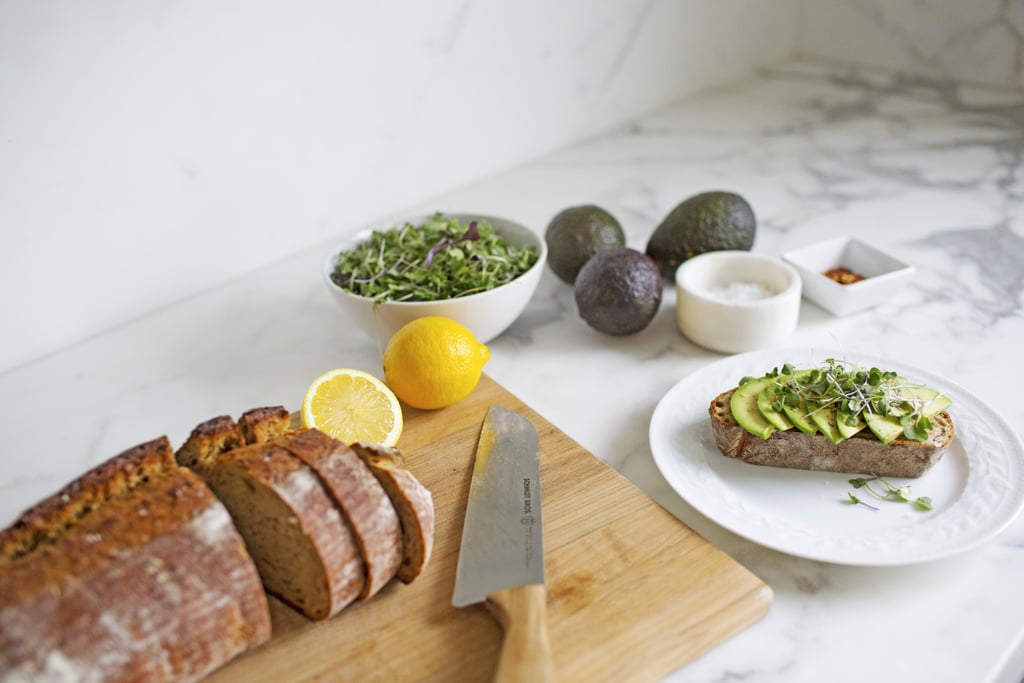 As probably everyone's favorite toast topping, avocados are full of the good stuff (fiber, potassium, and folate, to name some of it). Paired with some cherry tomatoes and a sprinkle of salt and pepper, you'll have a breakfast everyone will be jealous of.