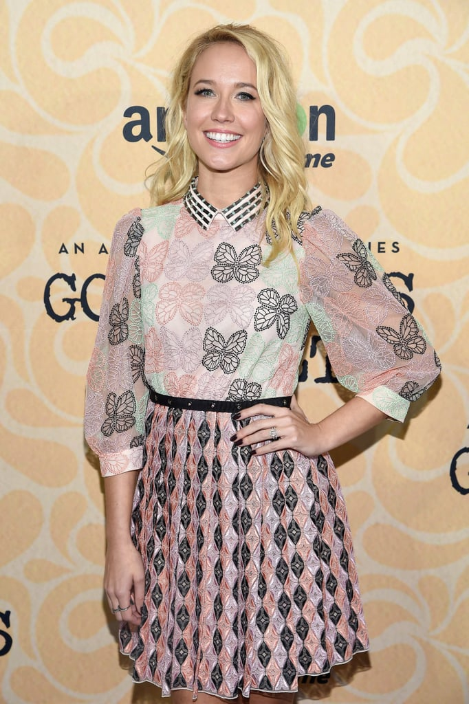 Anna Camp was all smiles when she hit the red carpet at Amazon's Good Girls Revolt NYC screening on Tuesday evening. Dressed in a pink butterfly-print dress, the star — who recently returned from her honeymoon in Italy — practically lit up the red carpet with her newlywed glow. While Anna attended the event solo, she's constantly sharing photos of her husband Skylar Astin on Instagram. We're hoping they make their red carpet debut as a married couple soon!        Related:                                                                                                           See Anna Camp and Skylar Astin's Beautiful Wedding Pictures!