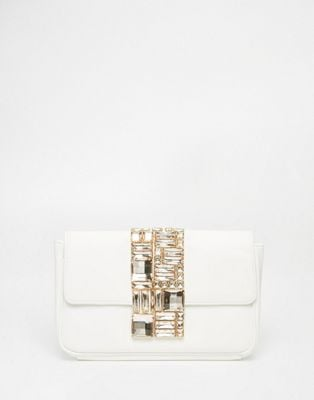 Asos Bridal Flap Over Embellished Clutch Bag
