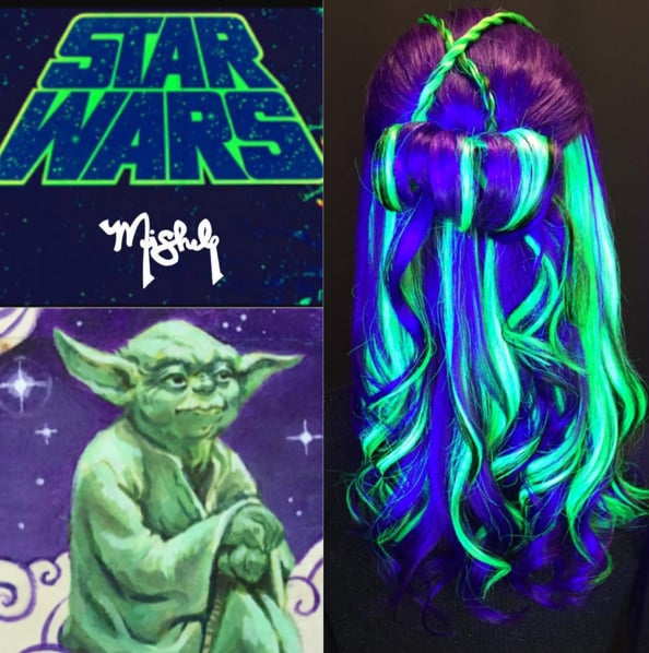 Glow-in-the-Dark Rainbow Hair