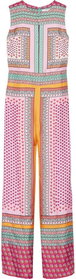 Diane von Furstenberg Jalessa Printed Silk Jumpsuit ($700)