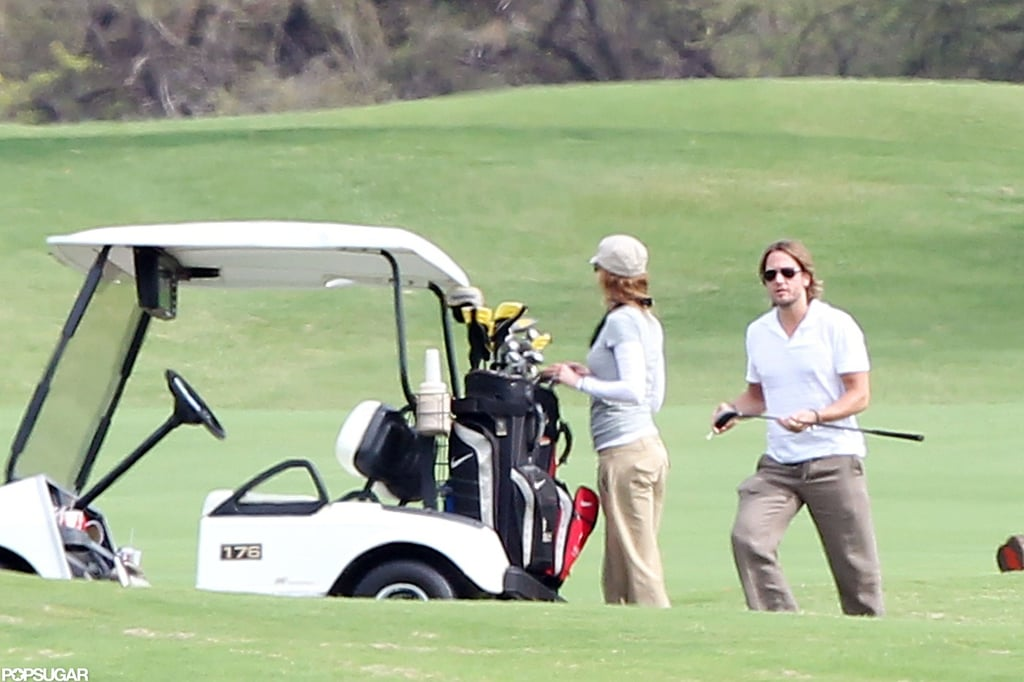 Keith Urban and Nicole Kidman played a couple's round in Hawaii in May 2010.
