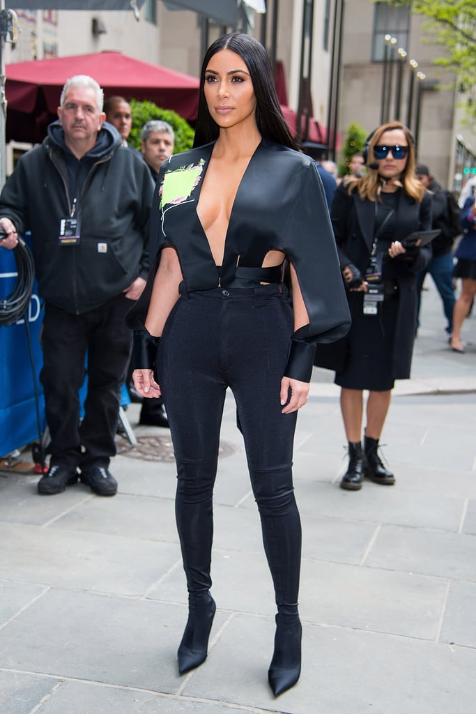 Kim Kardashian Makes Balenciaga's Boot Pants Look Totally Normal IRL