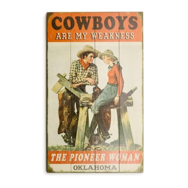 """""""Cowboys Are My Weakness"""" Wood Sign"""