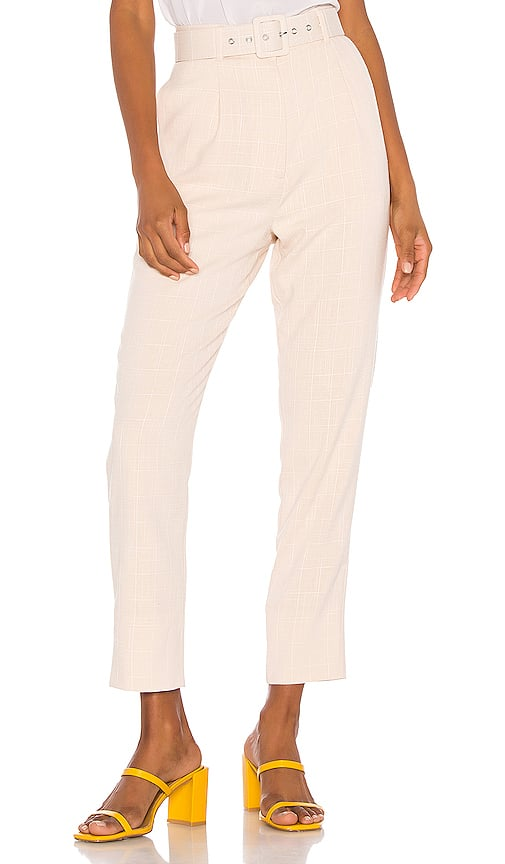 Song of Style Lane Pant in Beige Check from Revolve.com