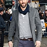 Ryan Reynolds couldn't have looked more handsome outside the Late Show With David Letterman in NYC on Wednesday.