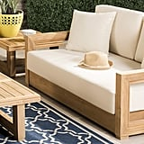 Rosecliff Heights Lakeland Teak Patio Sofa With Cushions