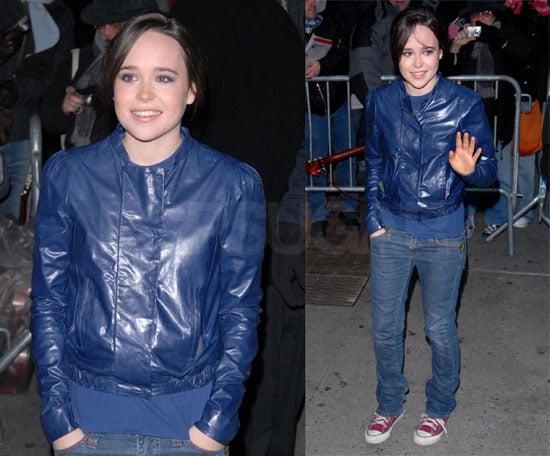 Ellen Page Looks Very Blue