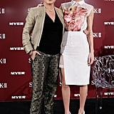 Kate Bosworth posed with Melissa Hoyer at a promotional event for her skin care line in Sydney.