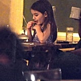 Suri Cruise ate dinner at Bubby's in NYC.