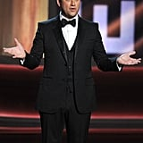 Host Jimmy Kimmel made sure the audience kept laughing.