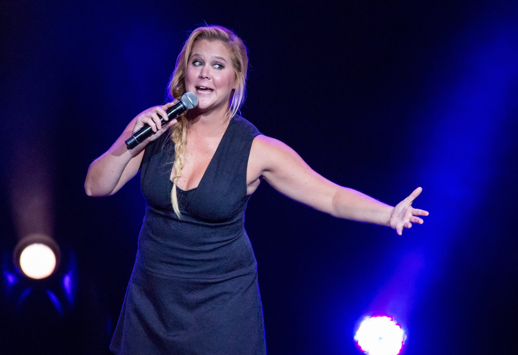 CLARKSTON, MI - AUGUST 30:  Comedian Amy Schumer performs during the Oddball Comedy And Curiosity Festival at DTE Energy Music Theater on August 30, 2015 in Clarkston, Michigan.  (Photo by Scott Legato/Getty Images)
