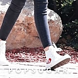 Kaia Gerber White Converse Sneakers June 2016