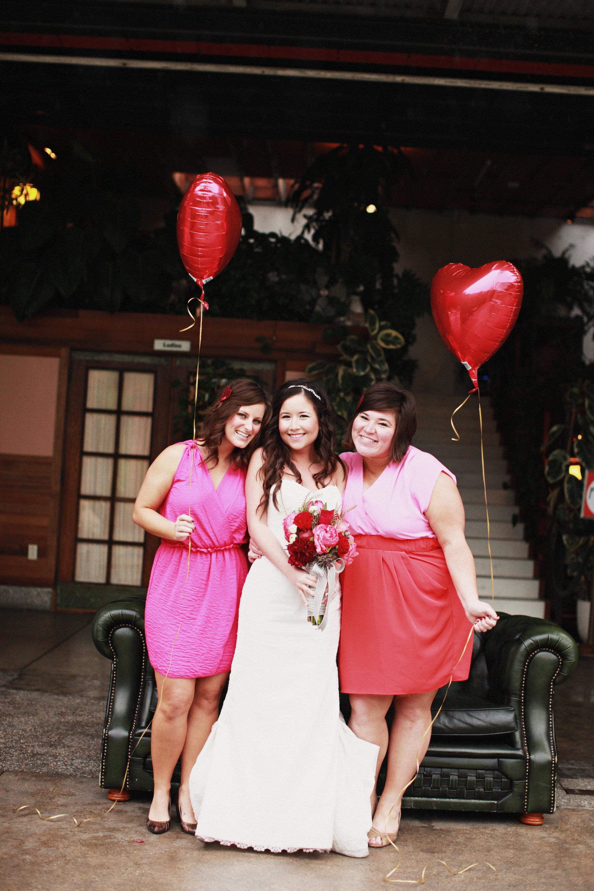 Bridesmaid Heart Balloons