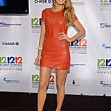 Blake Lively flaunted her stems in a studded Isabel Marant minidress, then finished with Louboutin cage booties.