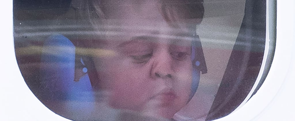 Here's Prince George Smushing His Face Up Against a Plane Window, LOL