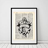 Old-School Anchor Tattoo Art Print ($7 and up)