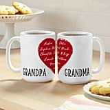 Personalized Our Hearts Are Full Mug Set