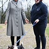 Camilla, Duchess of Cornwall With Beth the Jack Russell Terrier