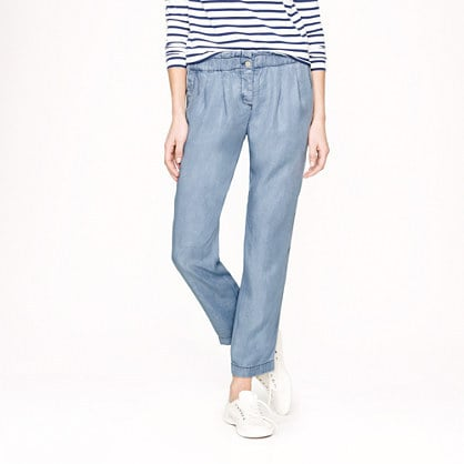 J.Crew Paper-Bag Waist Denim Pants