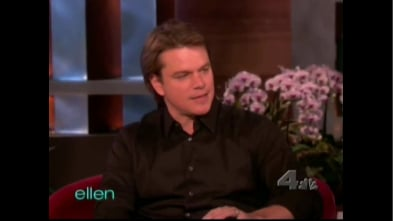 Ellen Pokes Fun At Matt Damon During His First Appearance On The Ellen Show