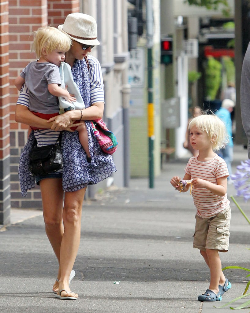 Naomi and Liev Take Their Blond Boys Out Down Under
