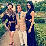Khloé  and Kendall kicked off Kim's wedding celebrations at Valentino Garavani's Paris home. Source: Instagram user krisjenner