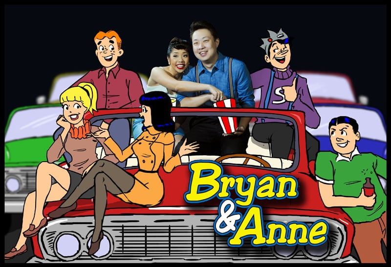 Want a retro vibe? Make like Bryan and Anne and put yourself right in the middle of a comic as classicly cool as Archie and the gang.  Photo: Jervy Santiago