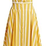 Thierry Colson Rossana Striped Ruffled-Hem Cotton Dress