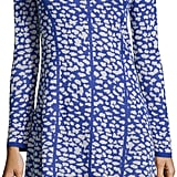 Neiman Marcus Animal-Print Fit-and-Flare Sweater Dress