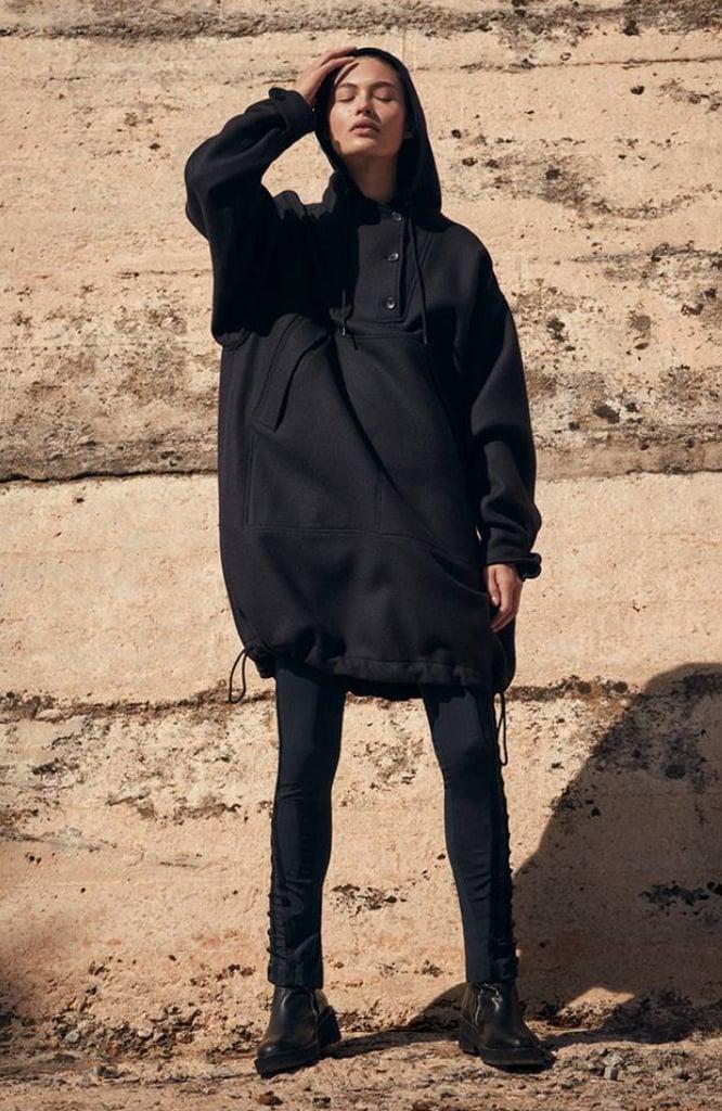 Long Wool-Blend Anorak