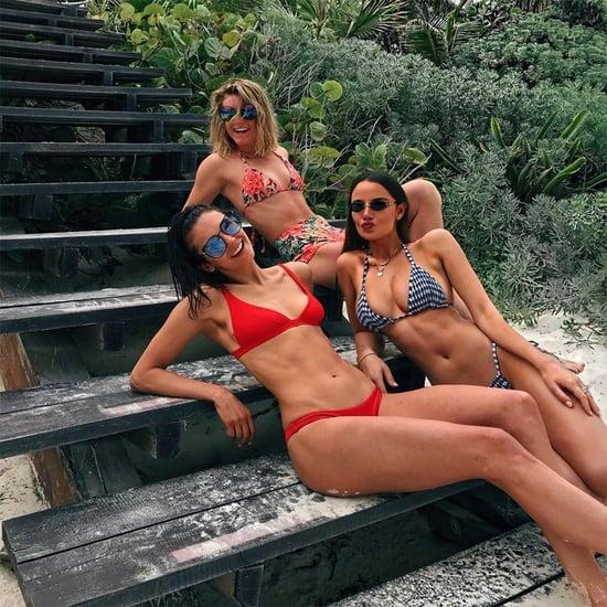 Nina Dobrev Red Bikini