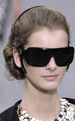 Sunglasses at Chanel Spring 2009, Paris Fashion Week