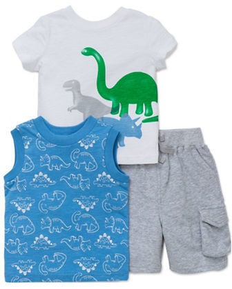 Dinosaur Tee, Tank Top, and Shorts Set