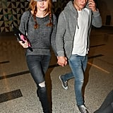 Bella Thorne and Gregg Sulkin Show Airport PDA