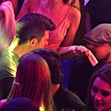 Leo partied with Robin Thicke at the Gotha Club on Wednesday.