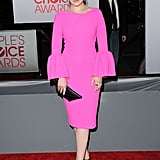 Ginnifer Goodwin was in a bright pink dress.