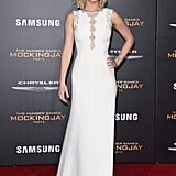 Jen showed us a sexy take on simple in this embellished Dior Haute Couture column gown at The Hunger Games: Mockingjay Part 2 premiere.