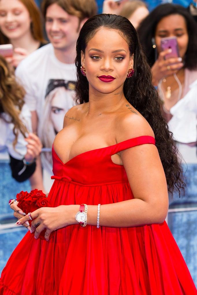 Rihanna Blue Hair August 2017